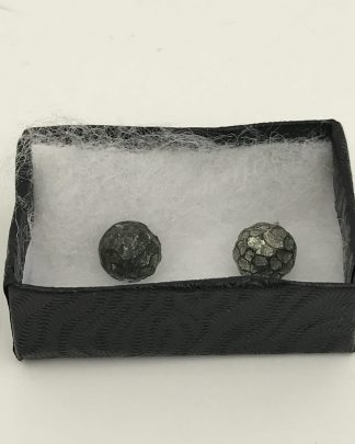 Hammered Design Black Post Earrings