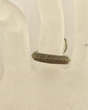 Snake Statement Ring Size 9 – Silver Tone Ring – Orange Line