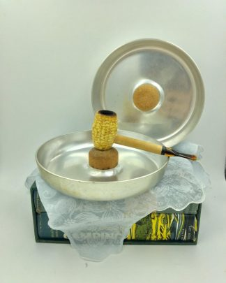 Vintage Kensington Ware Aluminum Cork Pipe Cigarette Ashtray Caddy