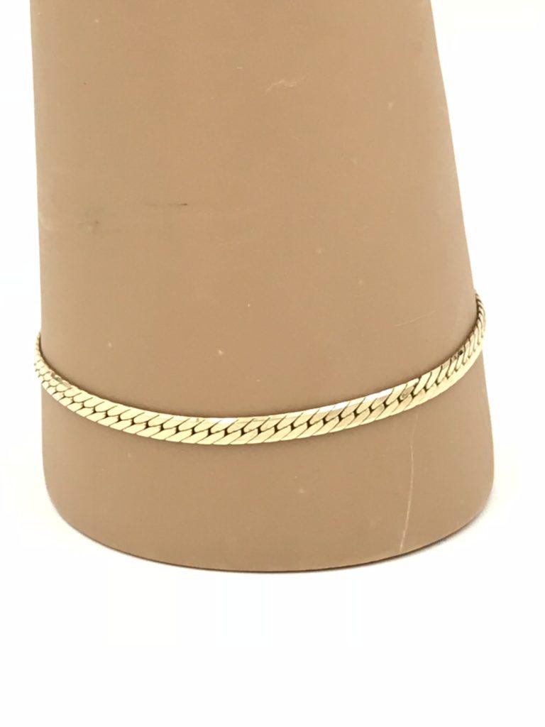 Vintage 14k Yellow Gold Herringbone