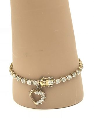 Ross-Simons Gold Plated Sterling Silver 925 Heart Bracelet