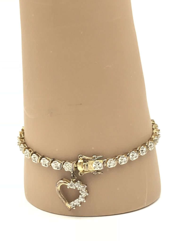 Ross Simons Gold Plated Sterling Silver 925 Heart Bracelet