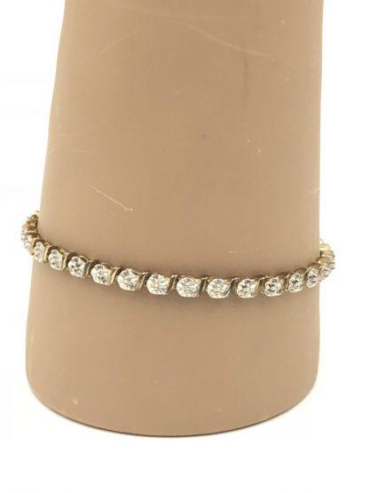 Ross-Simons Gold Plated Sterling Silver 925 Heart Bracelet