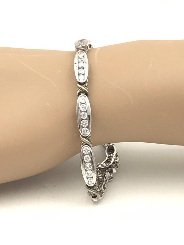 Ladies Sterling Silver 925 Wedding Gift Cz Tennis Bracelet