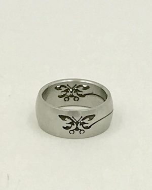 Stainless Steel Laser Cut Lobster Design Ring Size 6