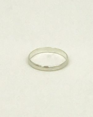 Sterling Silver Band Ring Designer Signed Simple Size 4.5