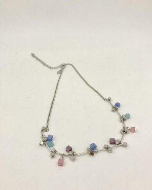 Lia Sophia Adjustable Silver Tone Necklace 15″ + 3″