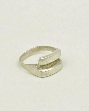 Modern Sterling Silver Vintage Band Ring Size 8