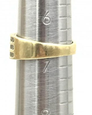 Vintage Diamond Wedding Band 10K Yellow Gold