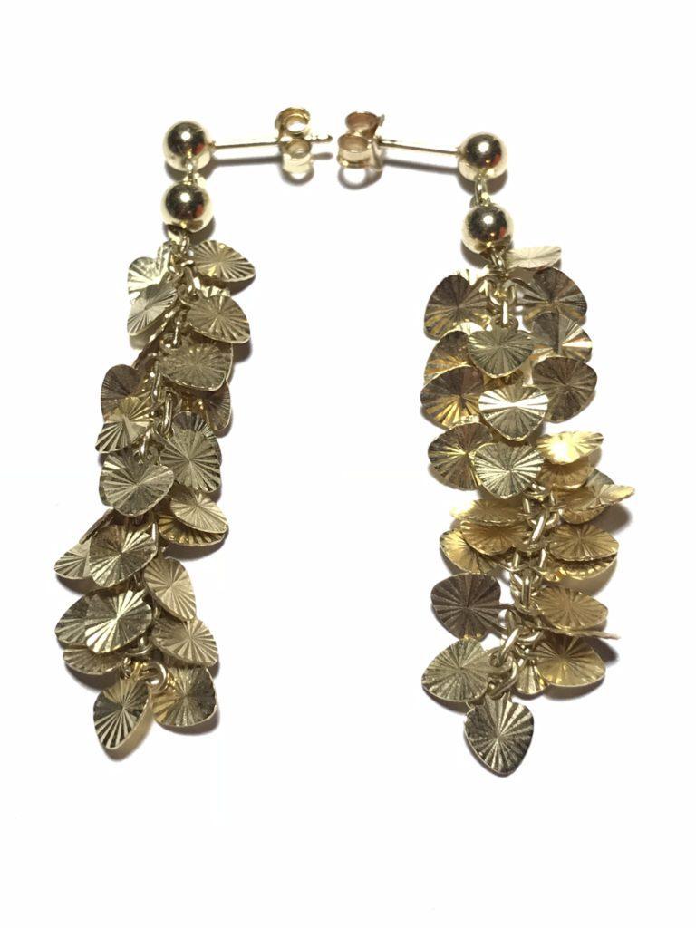 20f65a471 Rare Vintage Signed Midas Turkey Solid Gold 14K Leaf Stud Earrings Unique