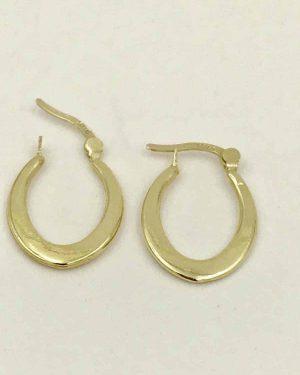 Kid's 14K Yellow Gold Designer Hoop Earrings 0.64g Unknown Designer Mark