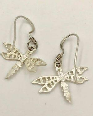 Butterfly Sterling Silver Dangle Earrings