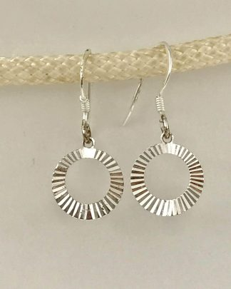 Sterling Silver Circle Dangle Earrings