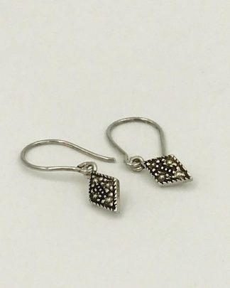 Sterling Diamond Shape Earrings