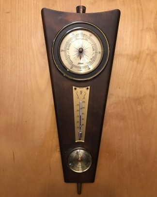 Vintage Danish Modern Jason Barometer Thermometer Hygrometer Weather Wood Germany