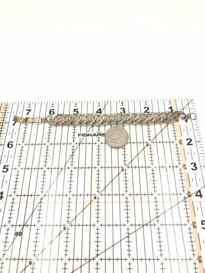 """Vintage Ornate Sterling Silver Filigree Bracelet 7"""" Signed 925"""