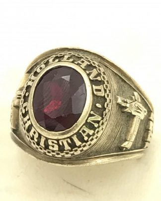 Vintage 10k Yellow Gold 1972 Ruby Jostens Mens Class Ring