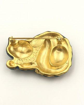 Kirks Folly Cheshire Cat Enameled & Rhinestones Pin
