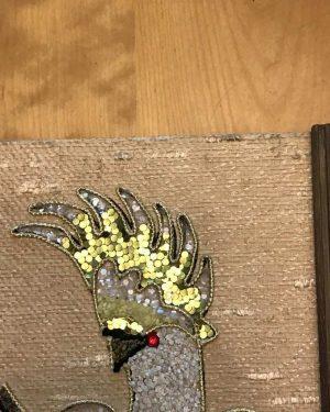 Vintage Gravel Art Parrot Bird Textured Wall Hanging Picture Matching Set