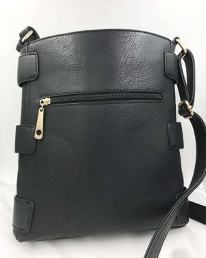 Michael Kors Black Pebble Leather Shoulder Bag Purse