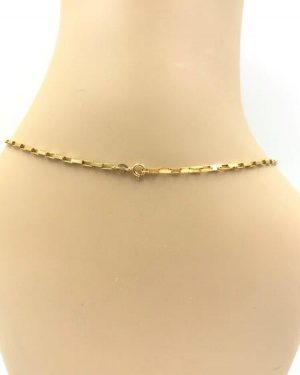 14K Yellow Gold Polished Cable Chain Design Necklace