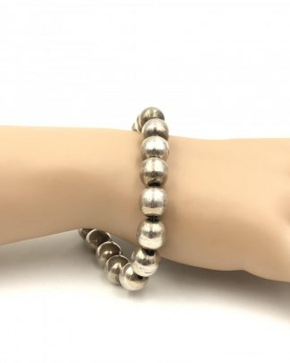 Vintage Taxco Sterling Silver Ball Bead Bracelet