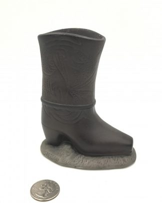 Miniature Cowboy Boot Ceramic Candle Holder Stetson Coty Division