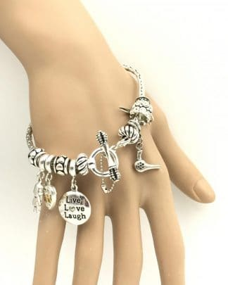 Stainless Steel Charm Bracelet 4 Charms