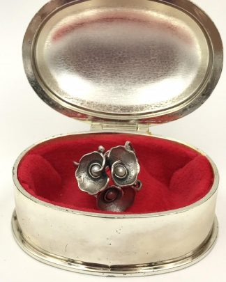 Vintage Sterling Silver Filigree Seed Pearl Wide Flower Ring