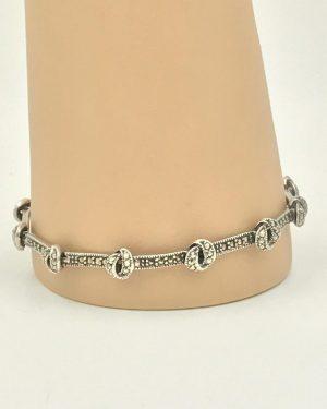 Ladies Sterling Silver 925 bracelet 7.5″ Marcasite