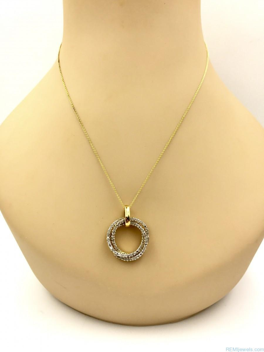sterling silver 1 0 carat diamond trinity rings pendant. Black Bedroom Furniture Sets. Home Design Ideas