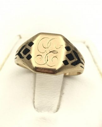 Vintage Simple Band 10K Yellow Gold Size 6.5 Ring