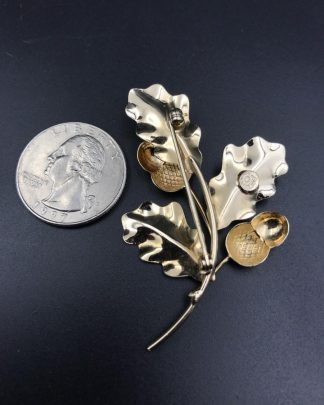 Vintage 1/20KT GF INC. Oak Leaf Acorn Branch Brooch Jewelry Pin