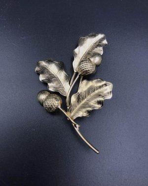 Vintage 1/20 12KT GF INC. Oak Leaf Acorn Branch Brooch Jewelry Pin