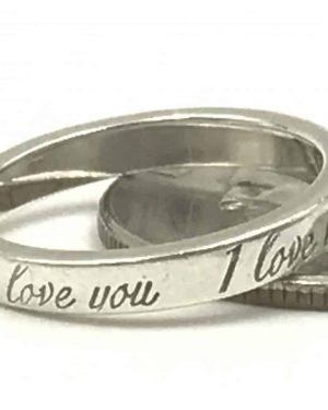 TIFFANY CO I Love You Ring 925 Sterling Silver – Size 6