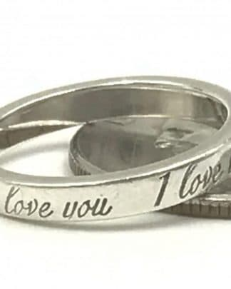 TIFFANY & CO I Love You Ring 925 Sterling Silver
