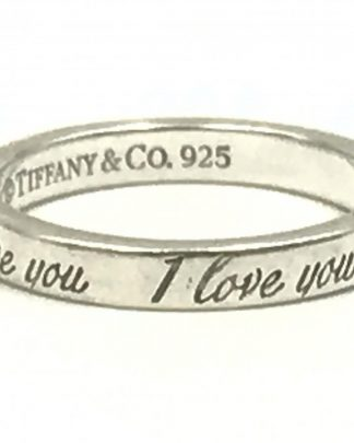 Tiffany Co I Love You Ring 925 Sterling Silver