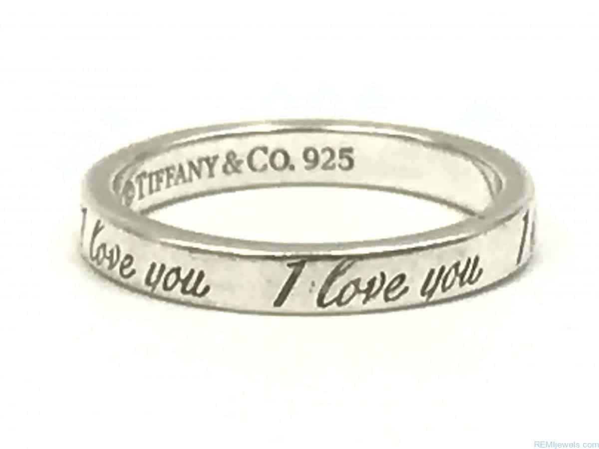 Tiffany Co I Love You Ring 925 Sterling Silver Size 6