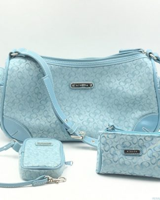 Strada Shoulder Handbag Purse Satchel Blue