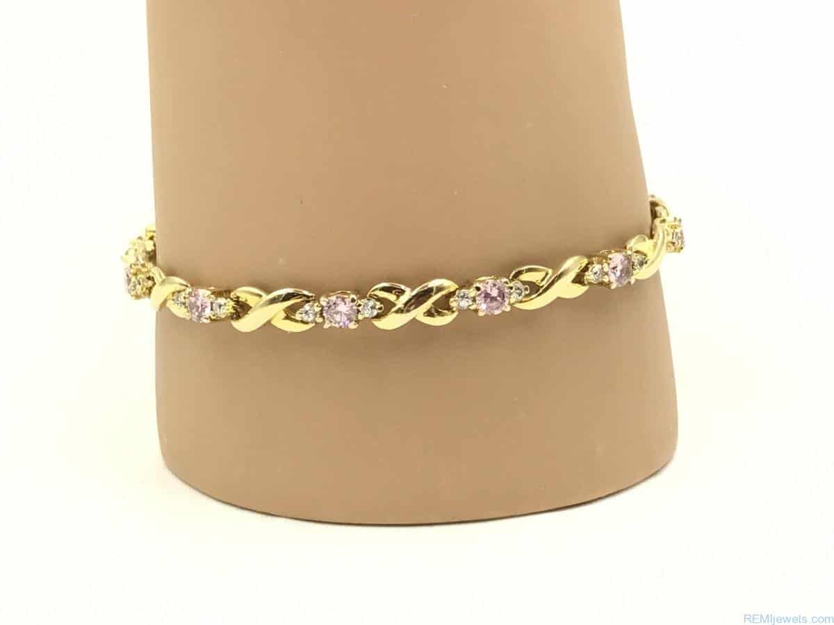 Gold Plated Forever Bracelet Remijewels Vintage Jewelry