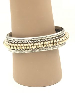 1960s Heavy NAVAJO Sterling 12k Gold Filled CABLE ROPE Cuff Bracelet – NORA TAHE