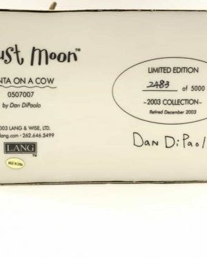 August Moon Dan DiPaolo Santa on a Cow Figurine 2003 Signed Limited Edition 2483/5000