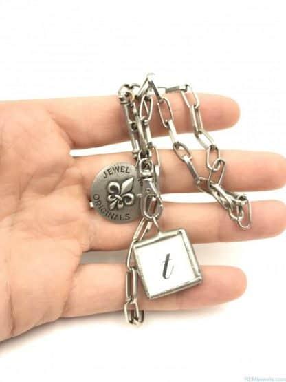 Jewel Kade Originals Designer Necklace Charm Pendant Letter T