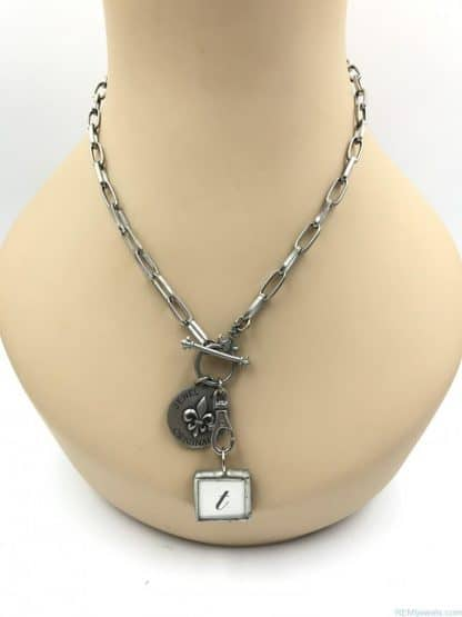 Jewel Kade Originals Designer Necklace Charm Pendant Initial T