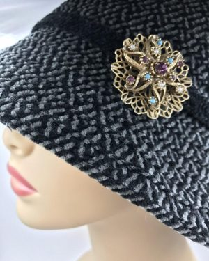 Vintage Purple Blue Rhinestone Star Filigree Pin Brooch Seed Pearls – Beautiful