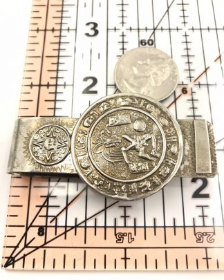 Vintage Silver Tone Money Clip Mexico Signed