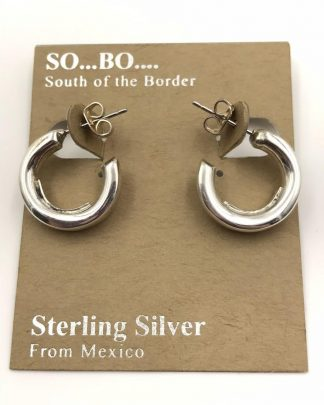 So Bo Designer Sterling Silver Open Circle Hollow Hoop Earrings