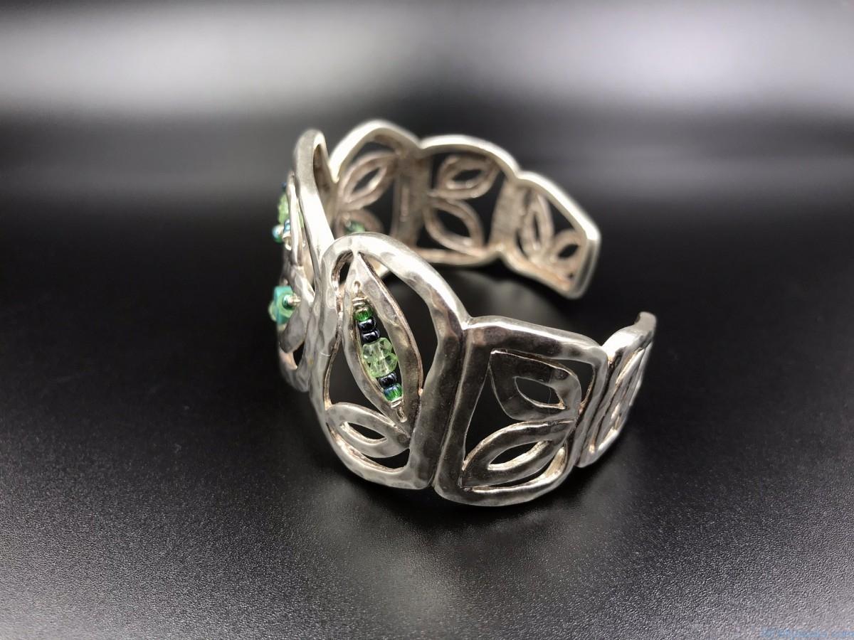 Silpada Hammered Sterling Silver Wide Cuff Bracelet