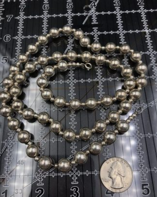 Vintage Sterling Silver Bead Ball Necklace Hottest Trend Celebrity
