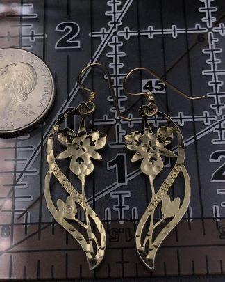 Beautiful Wild Bryde Gold Plated Flower Round Hook Earrings
